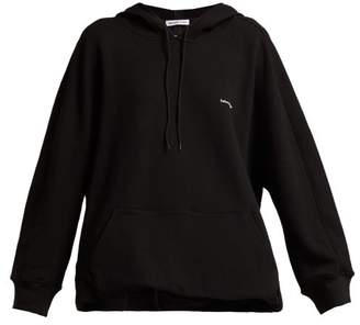 Balenciaga Cocoon Logo Embroidered Hooded Sweatshirt - Womens - Black