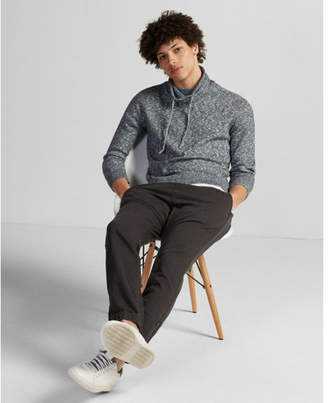 Express marled funnel neck pullover sweater