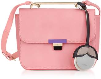 Furla Rose Quartz Leather Elisir Mini Crossbody Bag