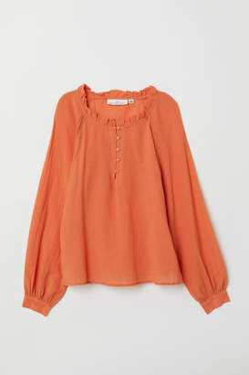 H&M Blouse with Buttons - Orange