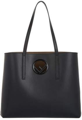 Fendi Leather Logo Shopper Bag