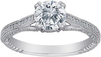 Micropave Generic Majestic CZ Sterling Silver Vintage Style Ring