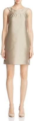 Armani Collezioni Satin Finish Shift Dress