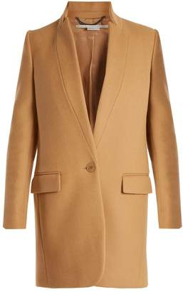 Stella McCartney Bryce Single Breasted Wool Blend Coat - Womens - Camel