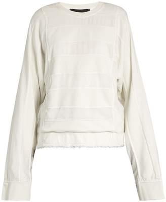 Haider Ackermann Polonium striped-patchwork cotton-blend sweater