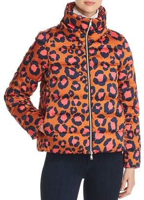 Herno Reversible Leopard Print Down Coat