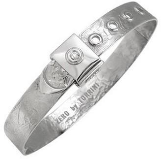 Torrini Zero - 18k White Gold and Diamond Bangle Bracelet