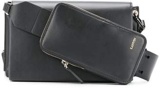 Lanvin logo embossed crossbody bag