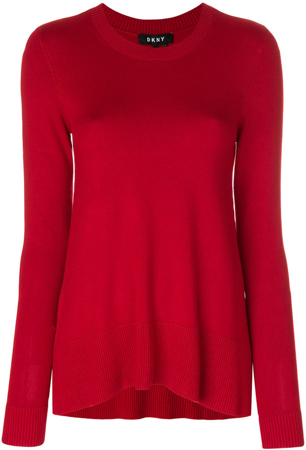 DKNY straight-fit knitted top