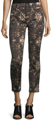 7 For All Mankind Jen7 by Grand Baroque Floral-Print Ankle Jeans