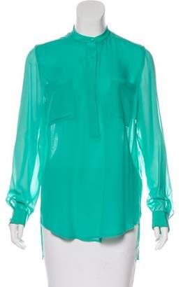 3.1 Phillip Lim Silk Long Sleeve Blouse