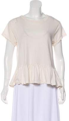 The Great Short Sleeve Pleated Top