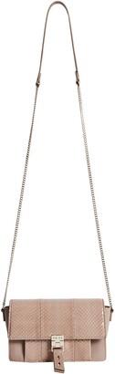 Reiss Aubrey Genuine Snakeskin & Leather Crossbody Bag