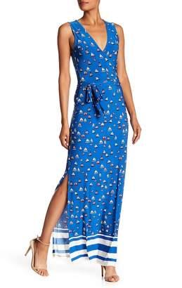 Leota Sleeveless Wrap Maxi Dress