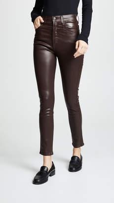 A Gold E AGOLDE Roxanne Leatherette Skinny Jeans