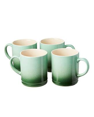 Fashion World Graduated Tankard Mugs Pack of 4 Green