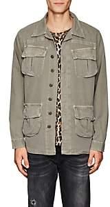 NSF Men's Cotton Canvas Shirt Jacket-Olive