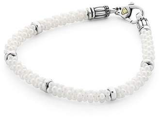 Lagos Sterling Silver White Caviar Bracelet