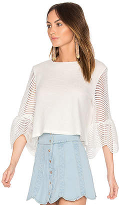 Endless Rose Cropped Bell Sleeve Top in White $59 thestylecure.com