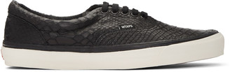 Vans Black WTAPS Edition OG Era LX Anaconda Sneakers $150 thestylecure.com