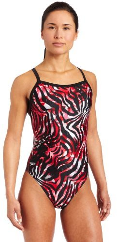 Speedo Womens Zebra Haze Xtra Life Lycra Flyback Swimsuit