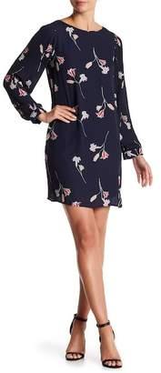 Vero Moda Pleated Sleeve Floral Dress