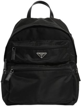 Prada Logo Nylon Canvas Backpack