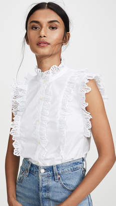 Rebecca Taylor Shell Embroidered Top