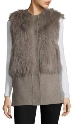 Pologeorgis Fox Fur& Wool Vest