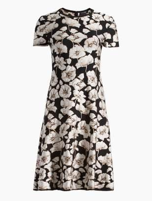 St. John Jacquard Knit Jewel Dress