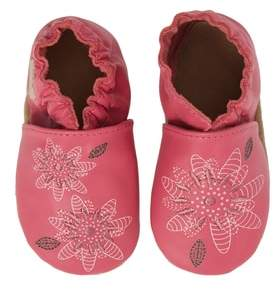 Robeez R) Fiona Flower Moccasin Crib Shoe