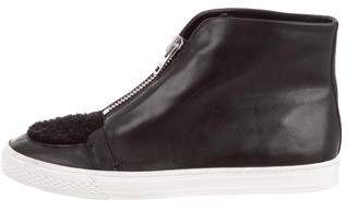 Loeffler Randall Leather High-Top Sneakers