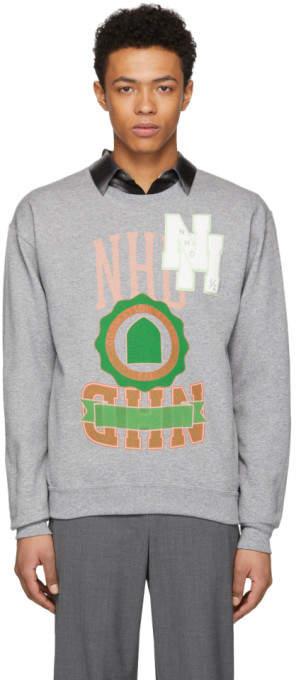 N.hoolywood Grey Logo Sweatshirt