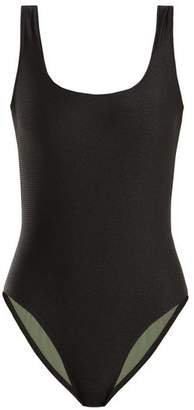 Bower - Ideal Square Neck Ribbed Swimsuit - Womens - Black