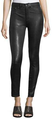 Rag & Bone High-Rise Lamb Leather Skinny Pants
