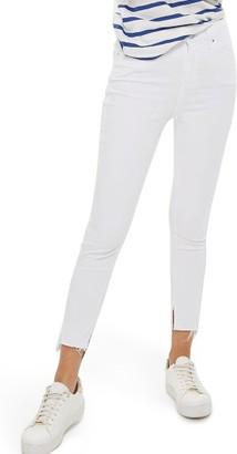 Women's Topshop Jamie Split Hem Skinny Jeans $75 thestylecure.com