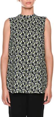 Marni Sleeveless Floral-Print Top