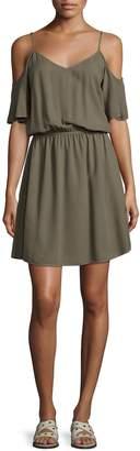 Splendid Women's Cold Shoulder Flared Dress