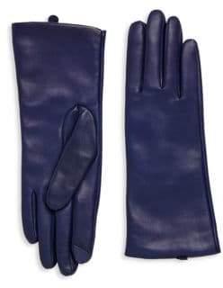 Saks Fifth Avenue Polished Leather Gloves