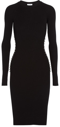 Mugler - Embellished Ribbed Stretch-jersey Dress - Black $915 thestylecure.com
