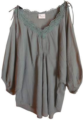 Stella Forest Green Cotton Top for Women