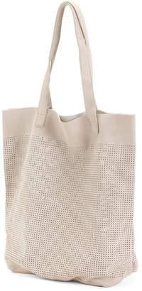 Stella Perforated Suede Tote