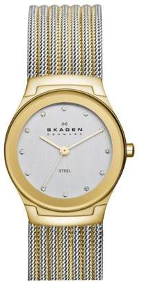 Skagen SKW2082 Two Tone Stainless Steel White Dial 32mm Womens Watch