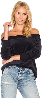 525 America Velour Off Shoulder Tunic