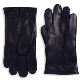 Paul Smith Leather Textured Gloves