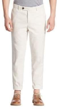 Brunello Cucinelli Solid Straight-Leg Pants