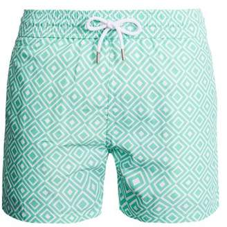 Frescobol Carioca - Sports Angra Print Swim Shorts - Mens - Green