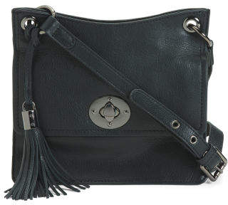 Leather Small Accordion Gusset Crossbody