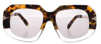 Karen Walker Crop Creeper Tinted Sunglasses
