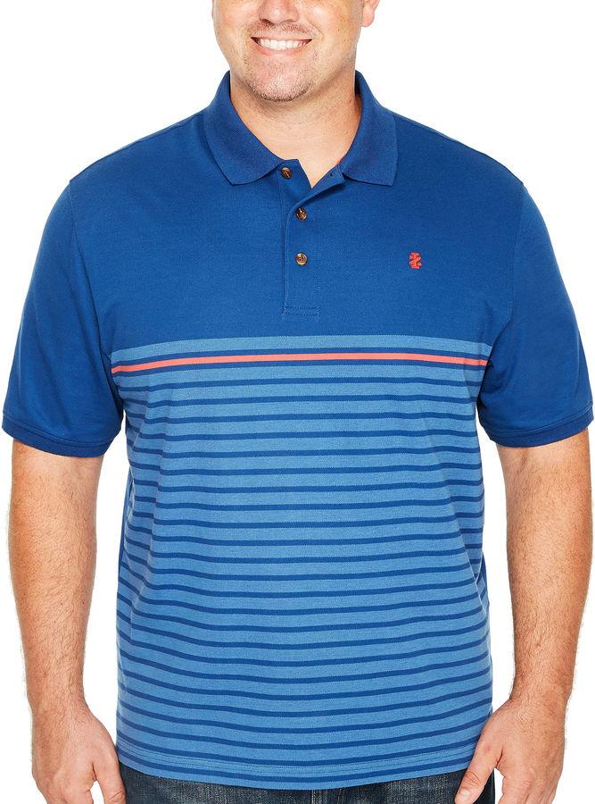 Izod short sleeve advantage engineered stripe knit polo for Izod big and tall shirts